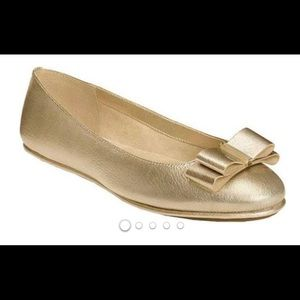 Aerosoles Conversation Gold Ballet Flats Size 11